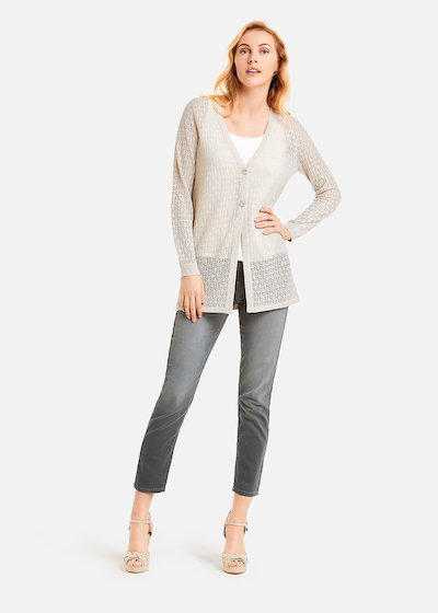 Calyd long cardigan lurex effect