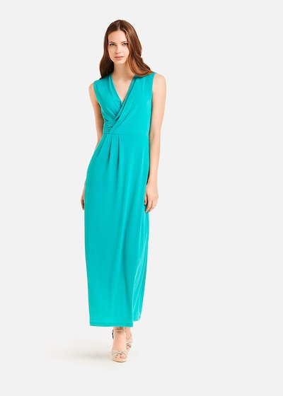 Adrien long dress with drape detail
