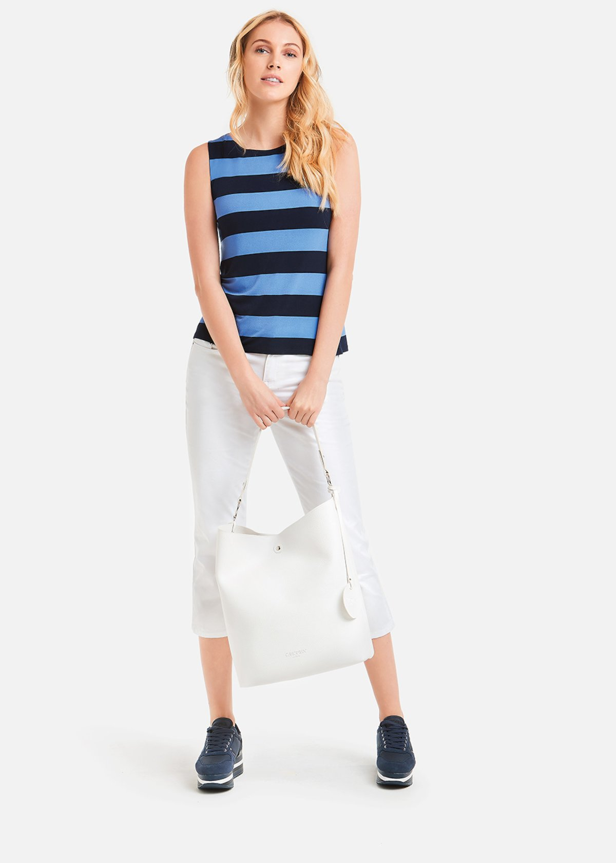 Tailor Top stripe pattern - Medium Blue / Divino Stripes