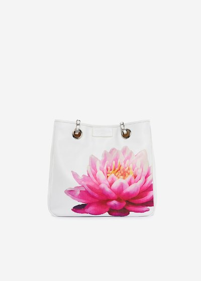 Bag Mini lady flower in ecopelle stampa Ninfea