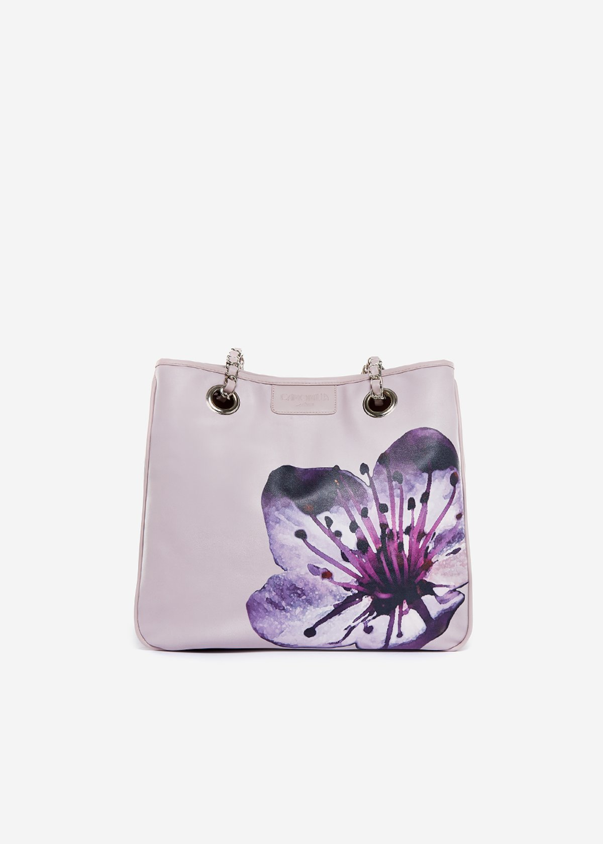 Bag Mini lady flower in eco leather Cherry Tree - Rosa