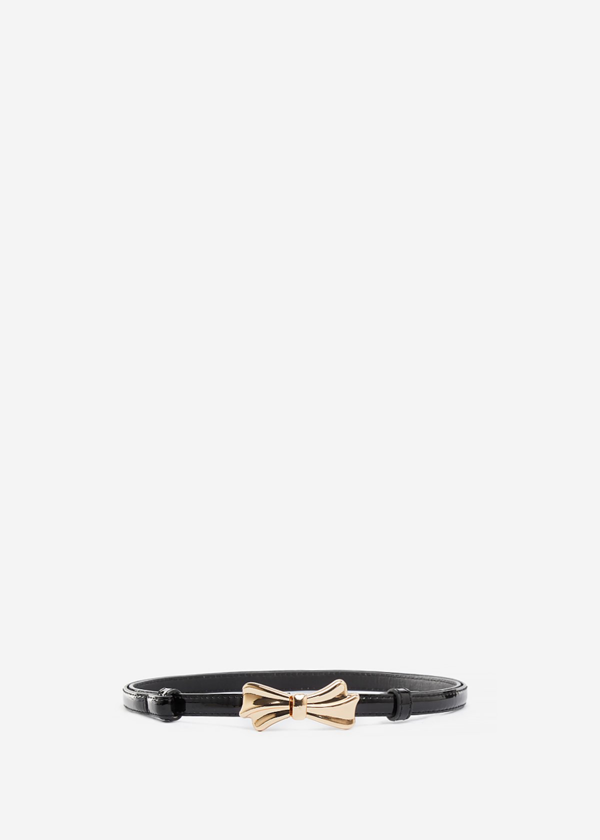 Faux leather Chicco belt with light-gold bow - Black
