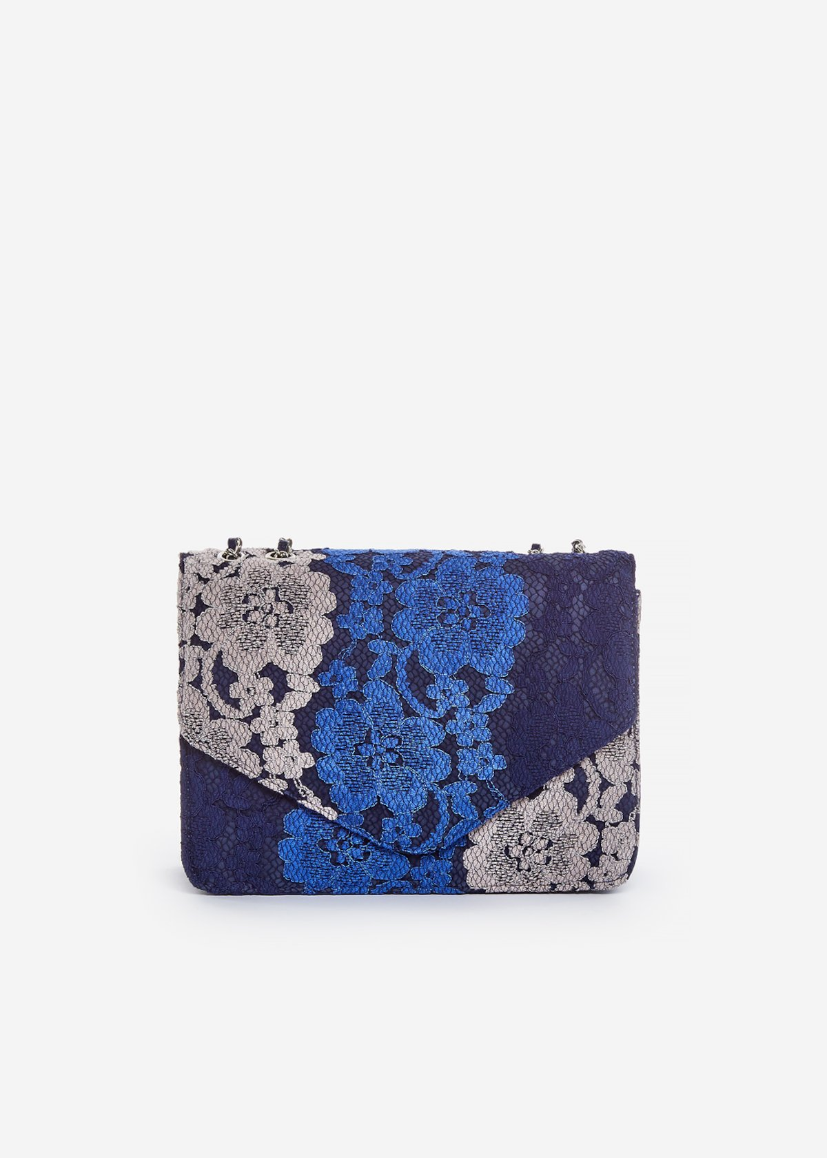 Pochette Bricia in pizzo tricolore - Medium Blue Fantasia