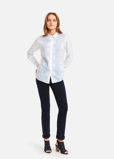 Chery shirt with morning embroidery
