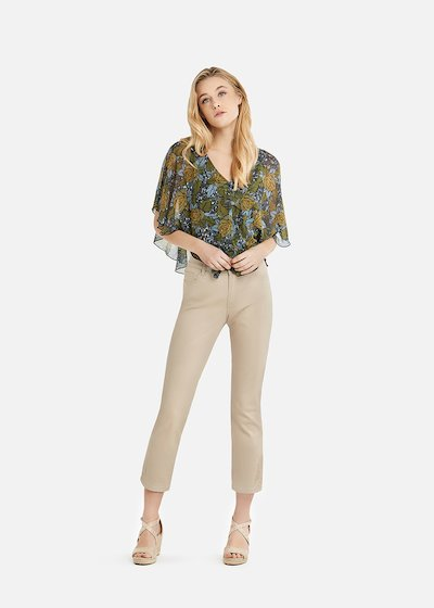 Phill capri trousers with embridery