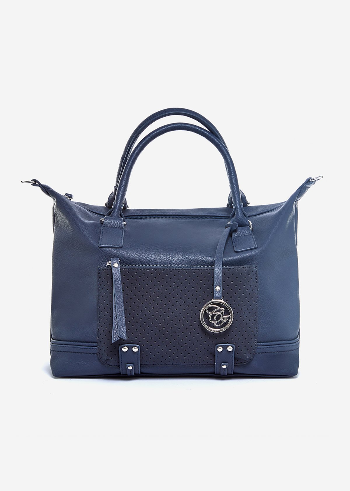 Shopping bag Biocco con dettagli metal silver