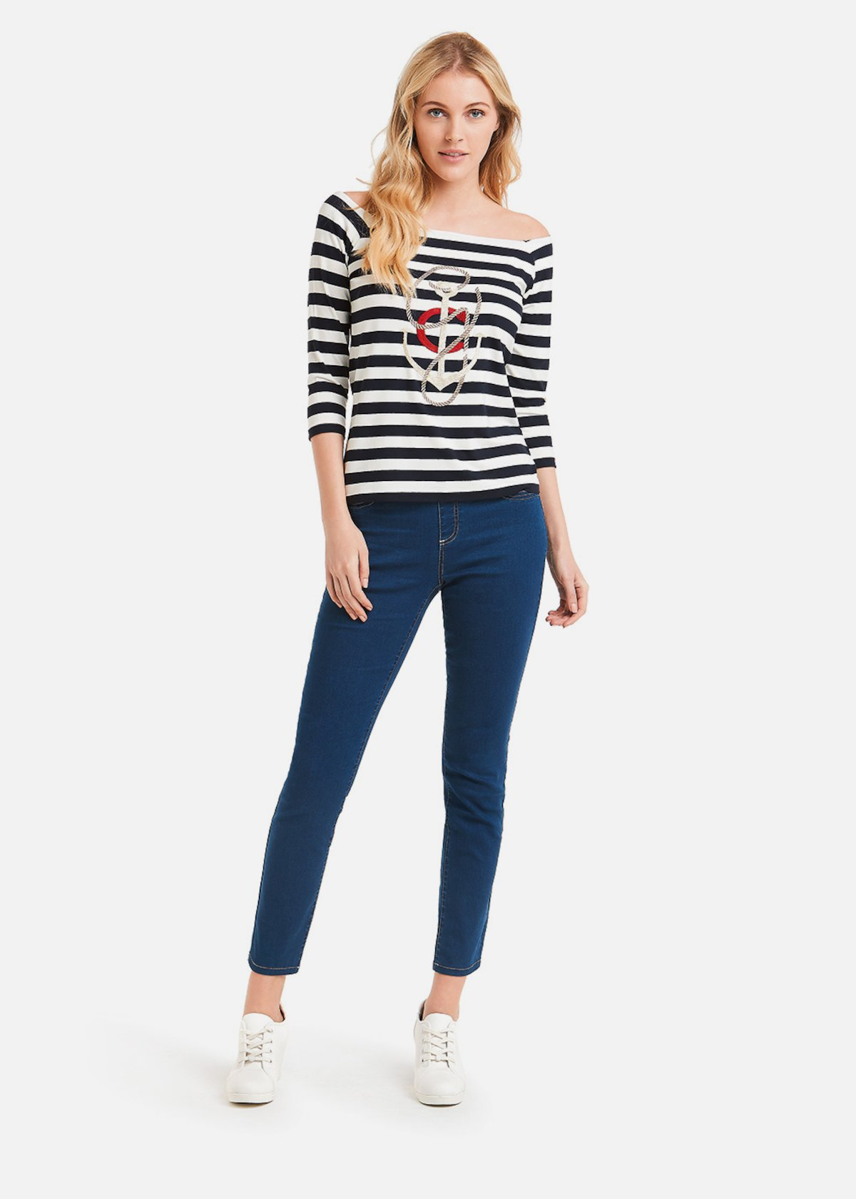 Stefany bicolour stripes t-shirt - Medium Blue  White\ Stripes