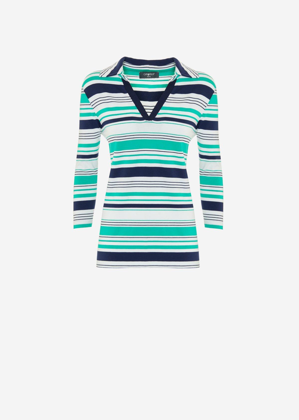 Selyn multicolour striped t-shirt - White\ Medium Blue Stripes