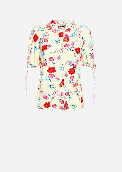 Camicia Sadry in jersey a maniche corte e stampa floreale