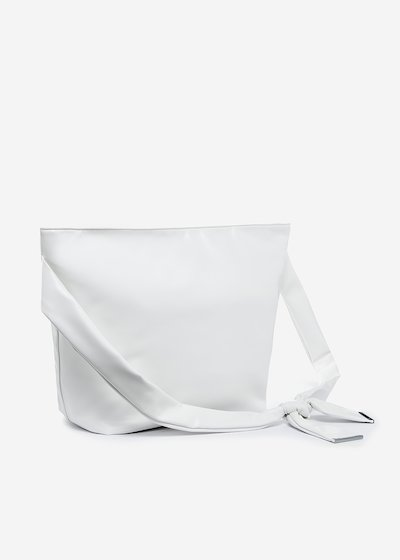 Faux leather Brigitte bag with adjustable handle - Bianco