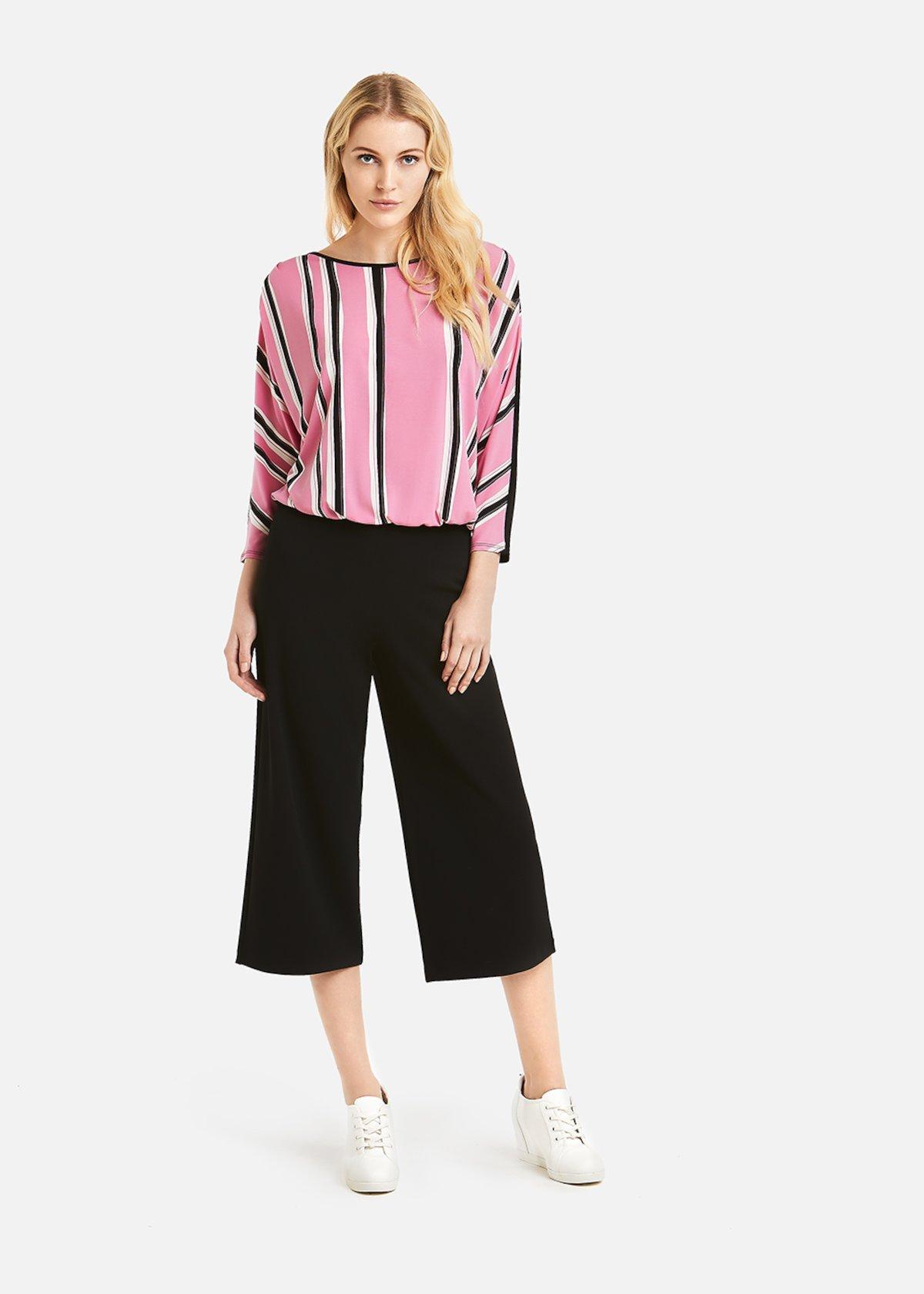 Plinio 4 short palazzo trousers - Black