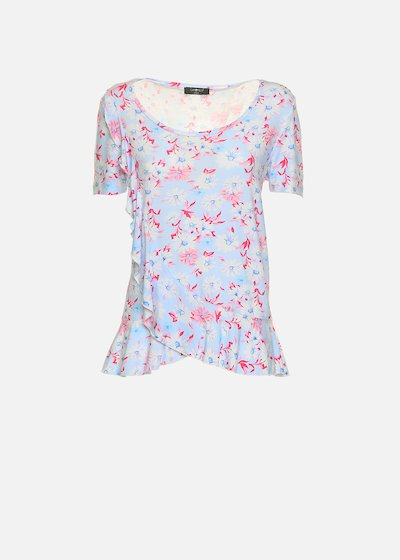Sedy t-shirt with round neckline and ruches