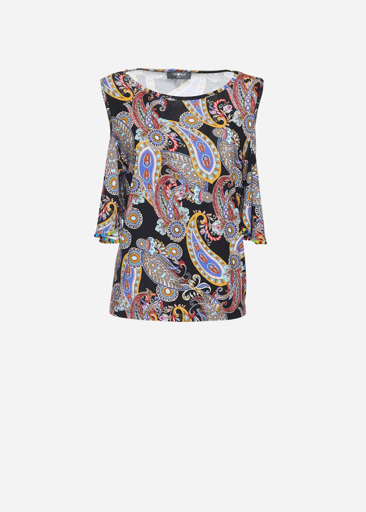 Indian patterned Semply T-shirt with shoulder sleeves