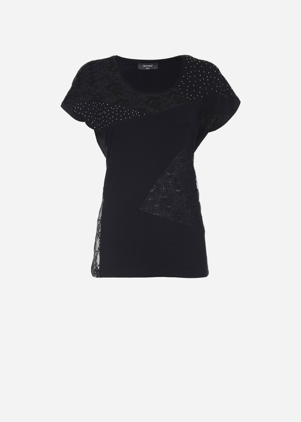 Soleil patch t-shirt - Black