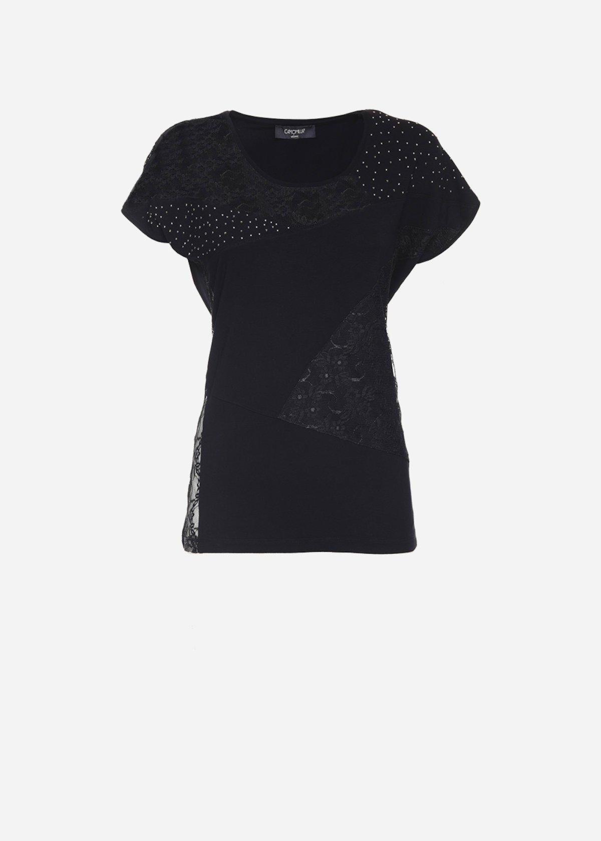 T-shirt Soleil con patch