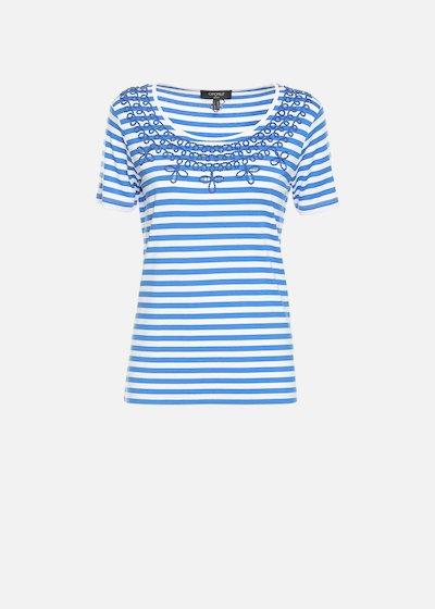 T-shirt Stuart bicolor con strass