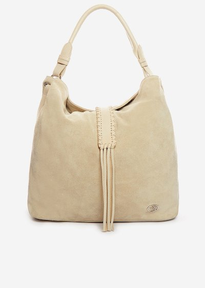 Leather Begonia bag with tassel detail