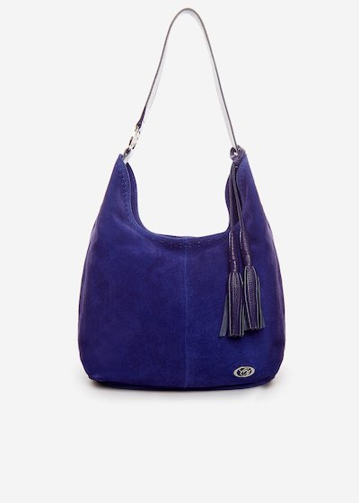 Leather Badilea bag with double tassel detail