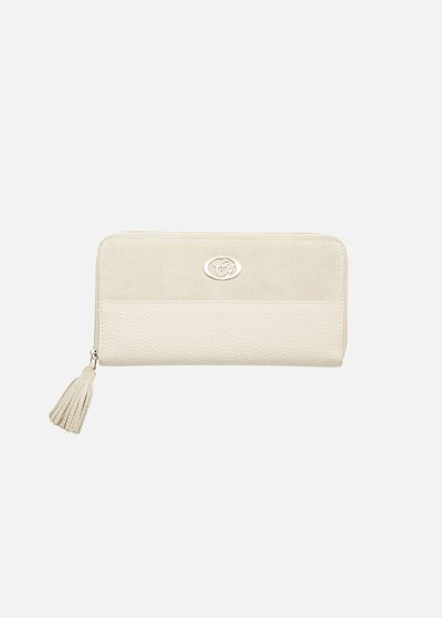 Leather and suede Persea wallet