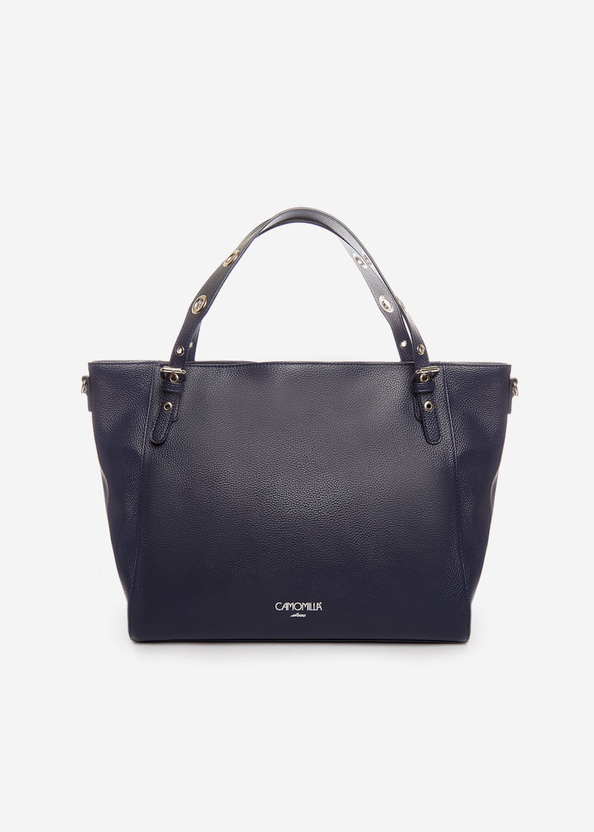 Hobo Bag Bumpa con occhielli sui manici - Medium Blue