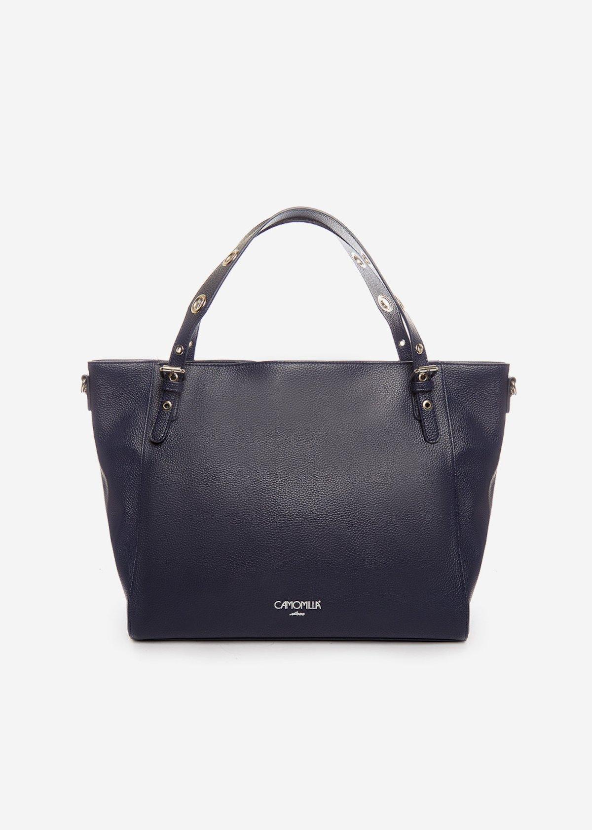 Bumpa Hobo Bag with eyelets on the handles - Medium Blue