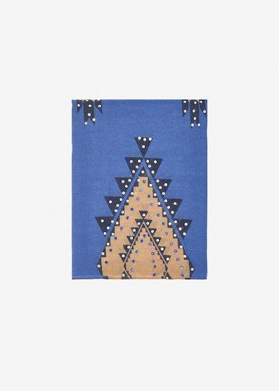 Sciarpa Siria fantasia geometrica con strass