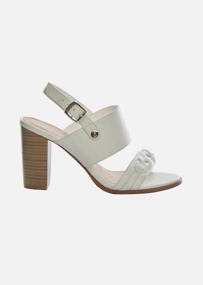 Faux-leather Saxa Sandals with chain detail