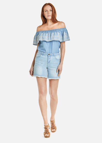 Blusa Conny in tessuto chambray
