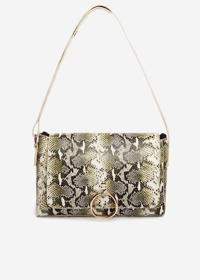 Boraliap Shoulder bag python effect