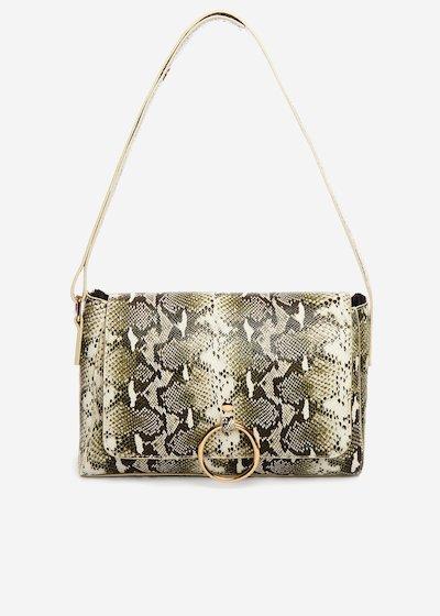 Boraliap Shoulder bag python effect
