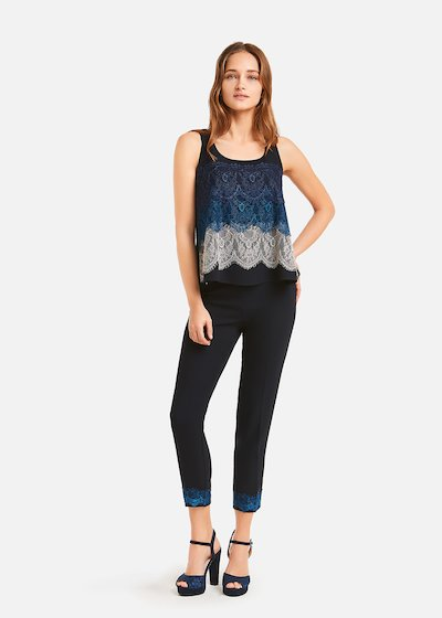 Top Theo with triple lace flounce
