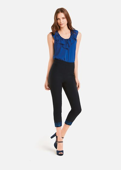 Peride Capri trousers with lace