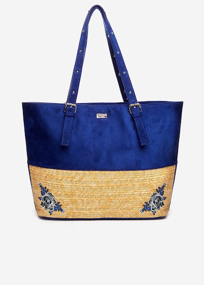 Byron shopping bag with embroidery detail