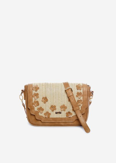 Handbag Belemir con fiori applicati