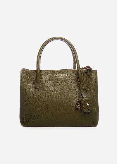 Brunas bag with light gold eyelets