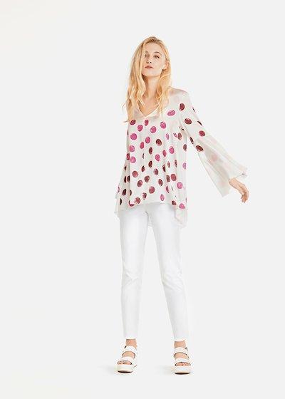 Sandra polka dot t-shirt with bell sleeves