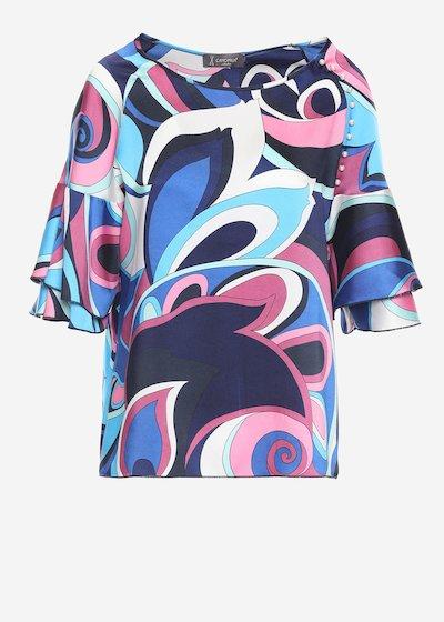 Sofia twill t-shirt with geometric print