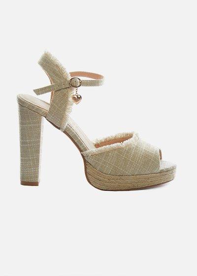 Spiky-heeled Sandals bouclé effect
