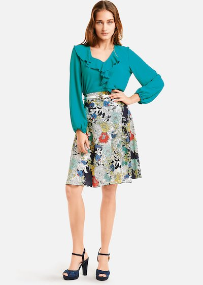 Giulia flared skirt flower bang pattern