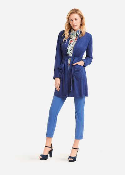 Tako Faux suede trench