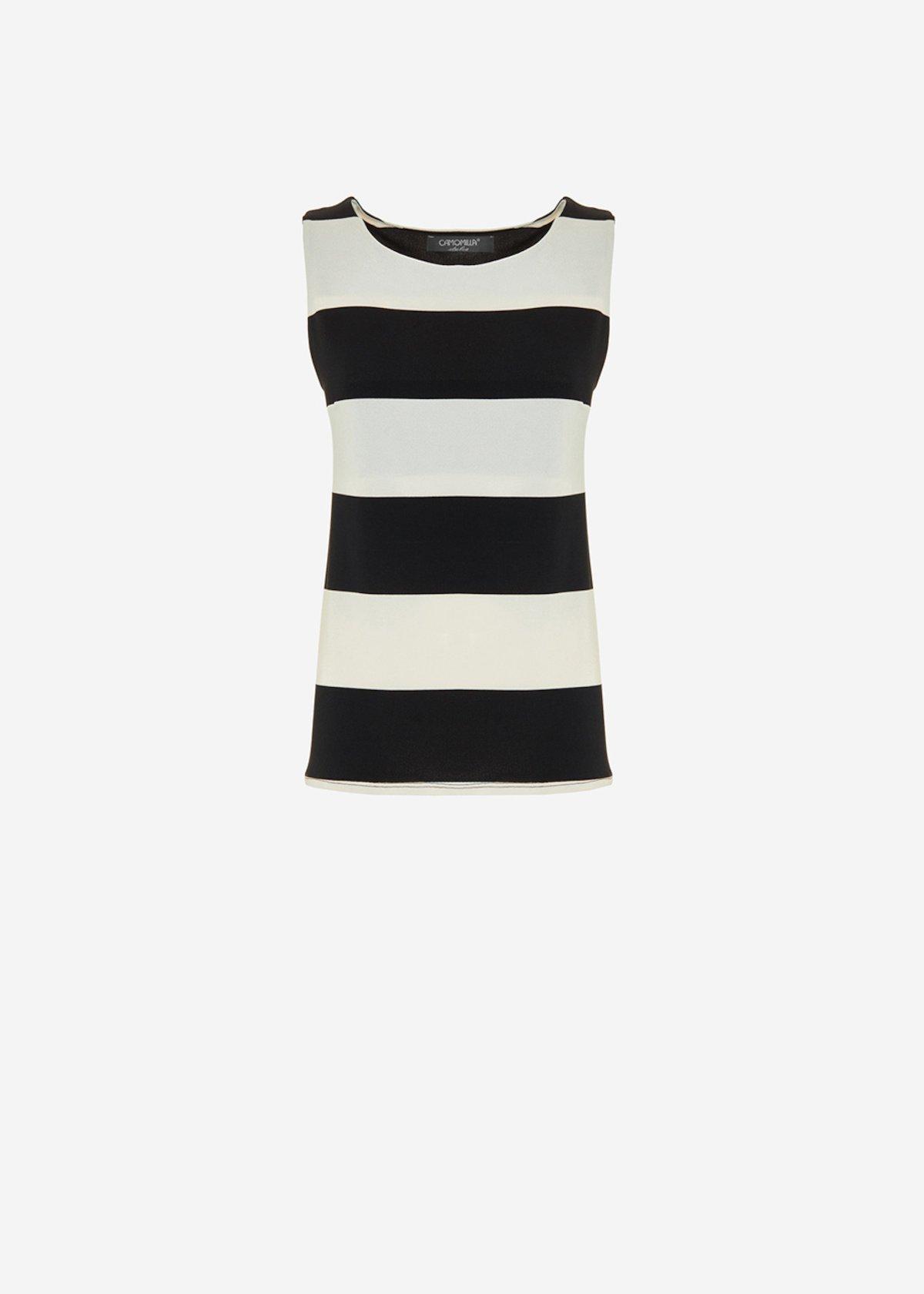 Tagor Top stripe fantasy - White / Black Stripes