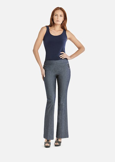 Prince wide leg denim trousers