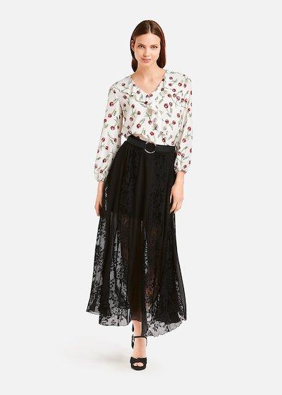 Cristina cherry pattern blouse