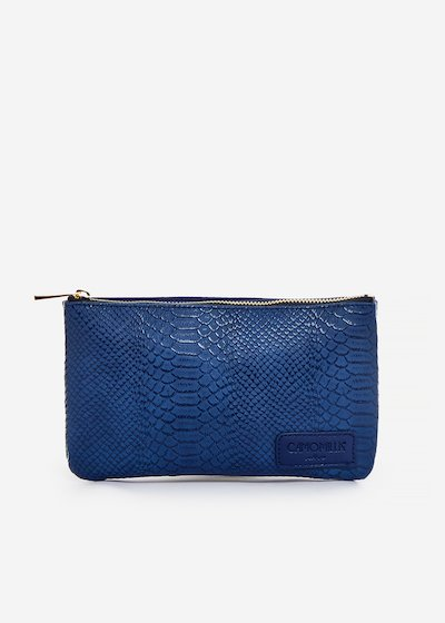 Tonga clutch bag python effect
