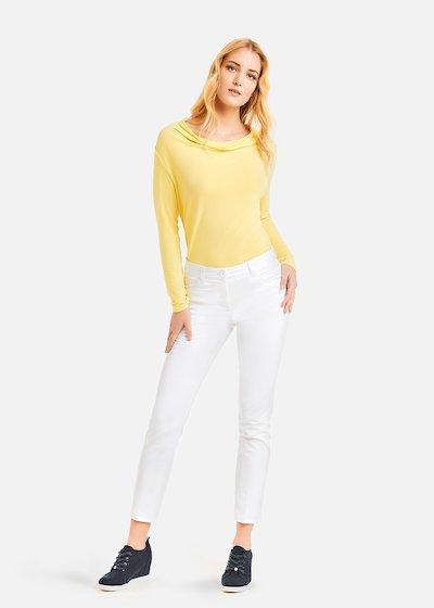 Kate slim 5 pockets trousers - Bianco