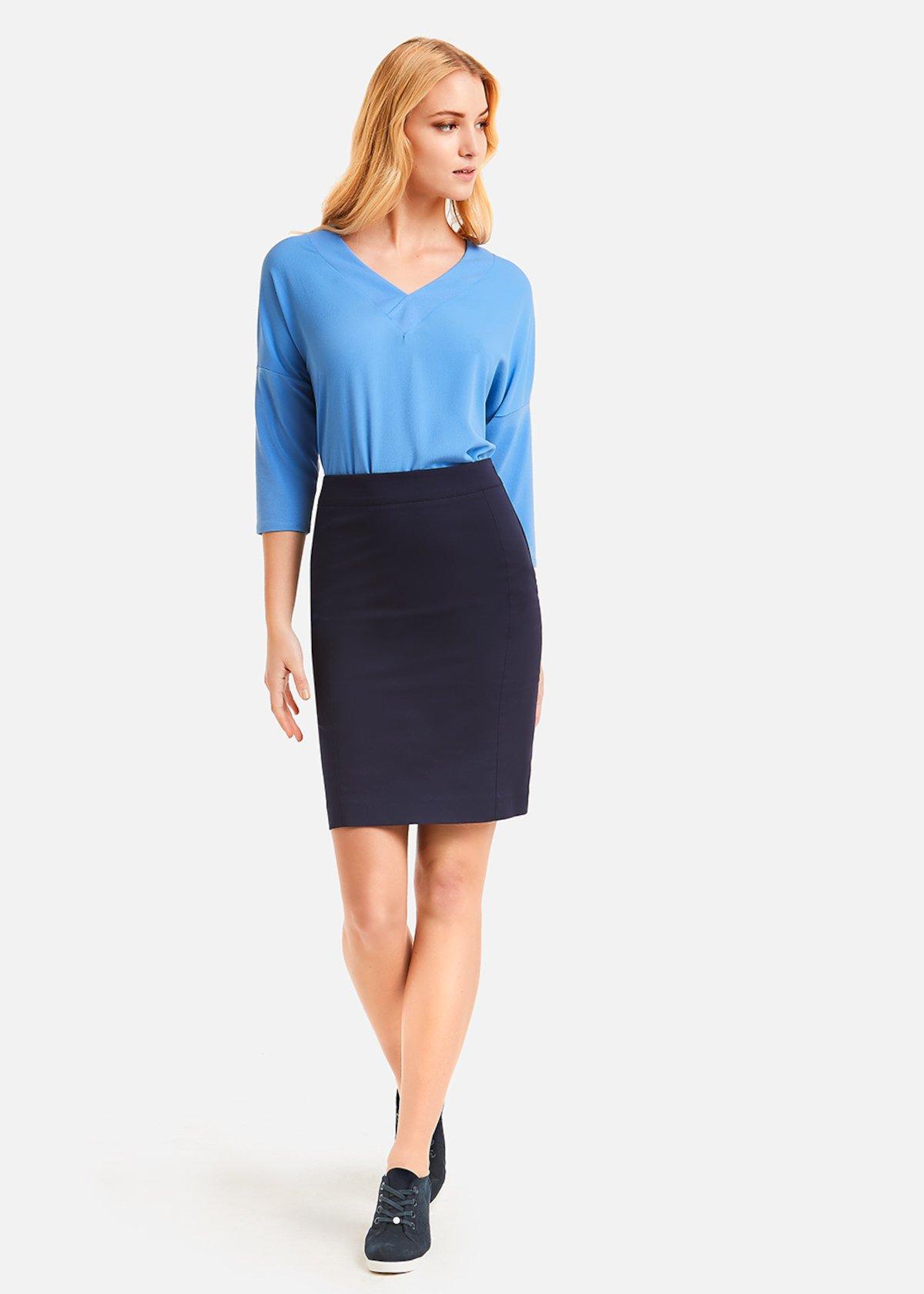 Gloria skirt fabric jeggings - Medium Blue