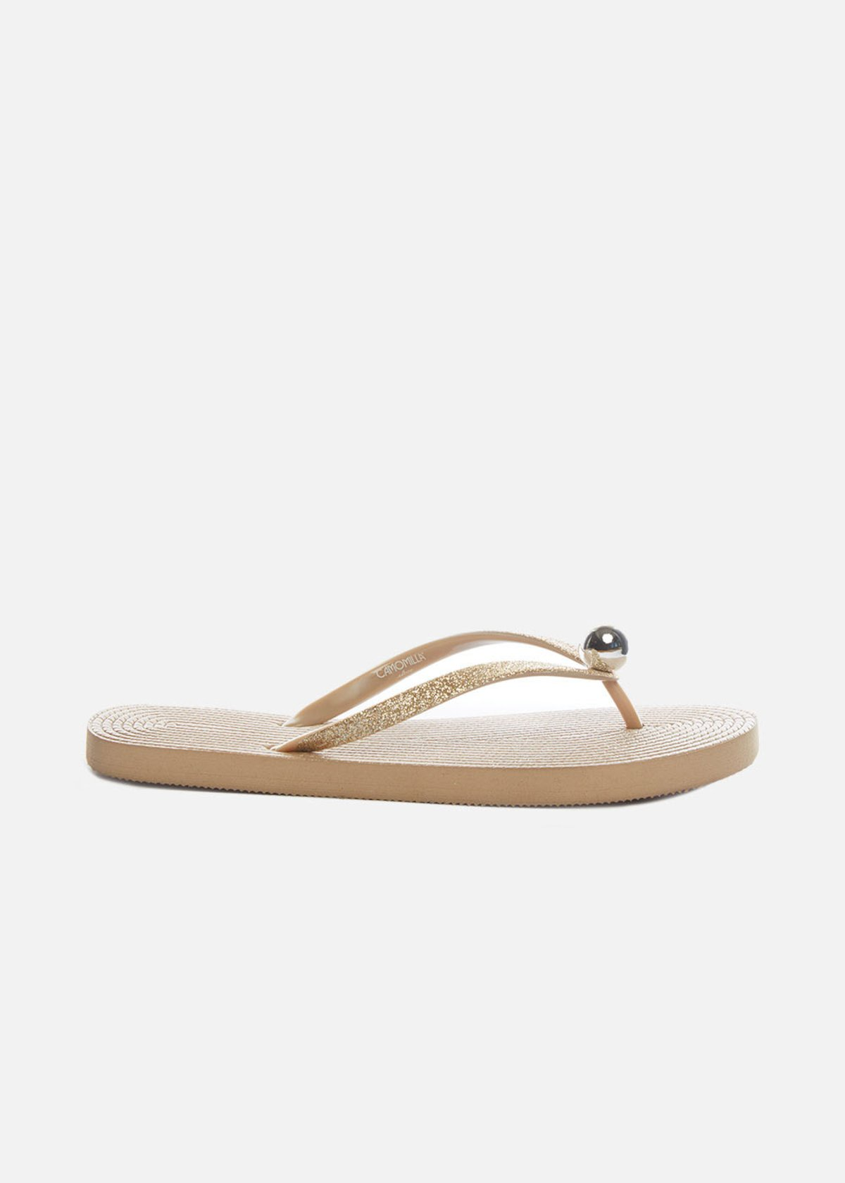 Coselia flip flops with ball detail - Gold