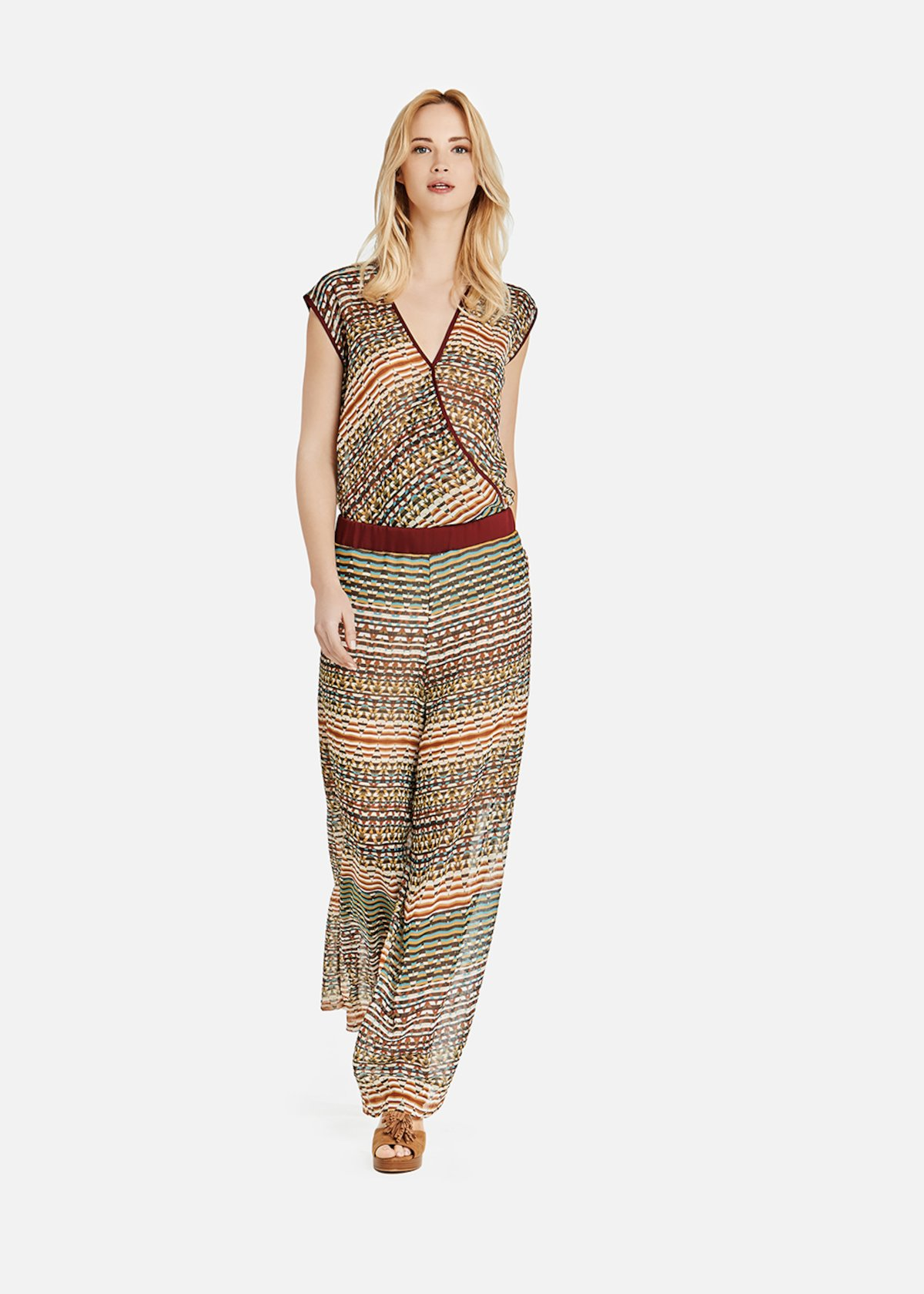 Paul pants with teheran pattern - Alga / Argilla Fantasia