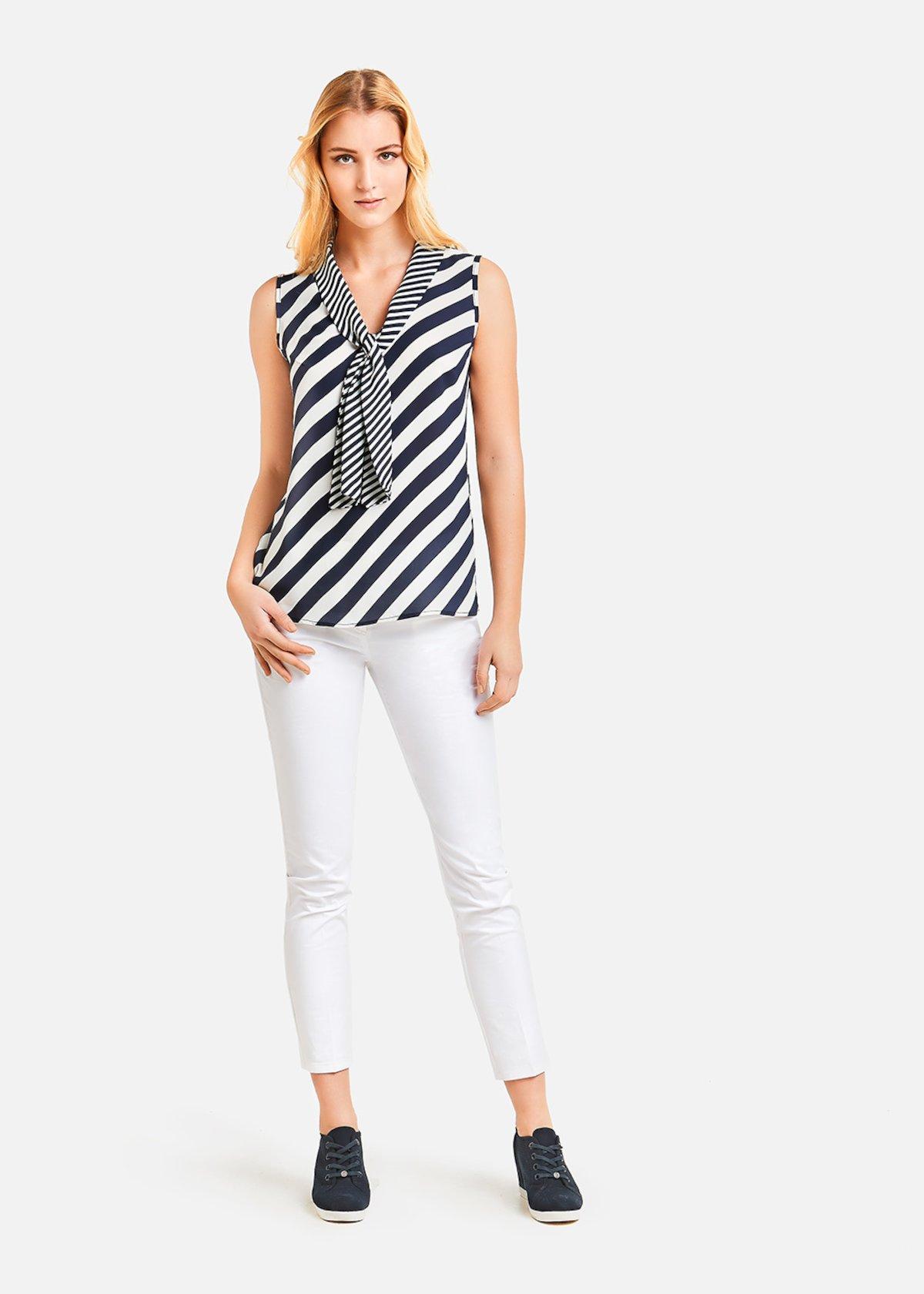 Top Thiago with stripes print