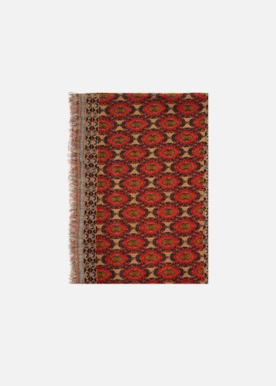 Savy scarf geometric print - Argilla / Light Beige Fantasia